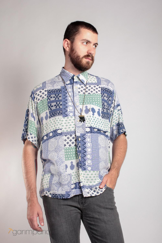 Camisa Estampada Damyller  f55aac41fe2