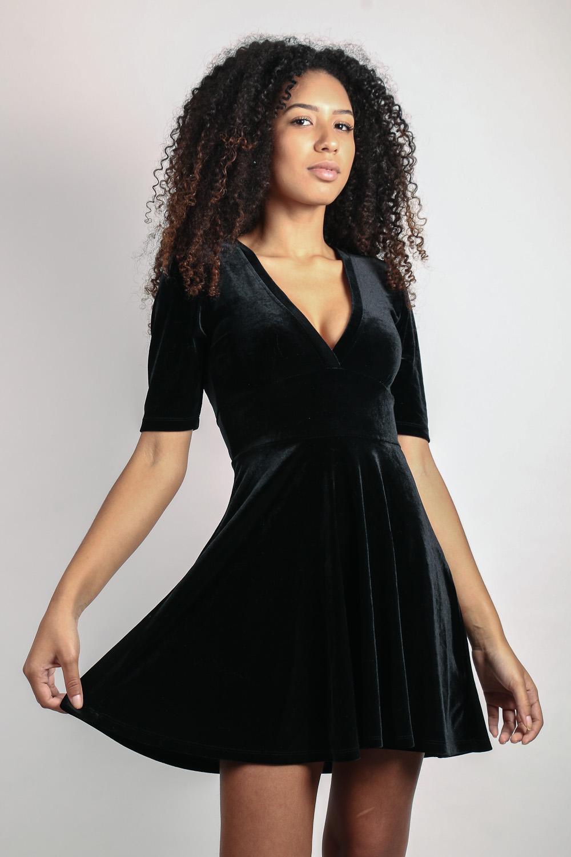Vestido De Veludo Forever 21