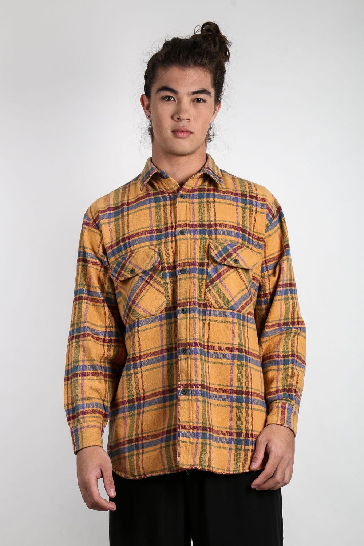 Camisa Flanela Xadrez Amarelo  4e0fa718bfc