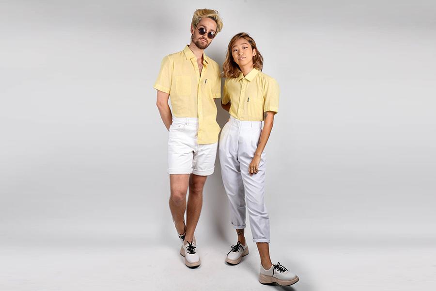 Fotos clicadas para a nossa loja virtual. Modelos vestem as camisas originais de 1980 garimpadas no Bazar Paulista
